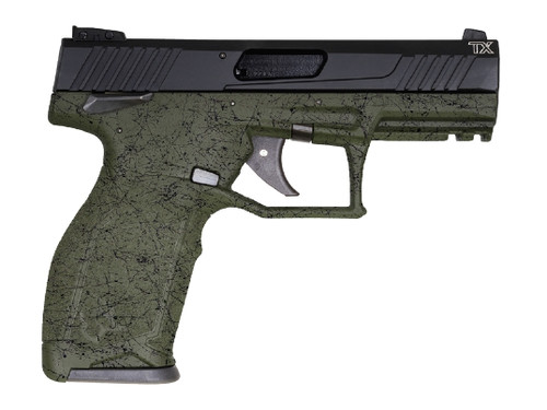 "Taurus TX22 22 LR, 4"" Barrel, Polymer Frame, Green Splatter/Black, Manual Safety, 16Rd, 2 Magazines"