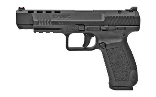 "Canik TP9SFx 9mm, 5.2"" Match Grade Barrel, Fiber Optic Sights, Black, 2x 20rd"