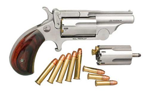 "NAA Ranger II 22 LR/22 Mag Combo, 1.63"" Barrel, Stainless, Rosewood Bird's Head Grip, 5rd"