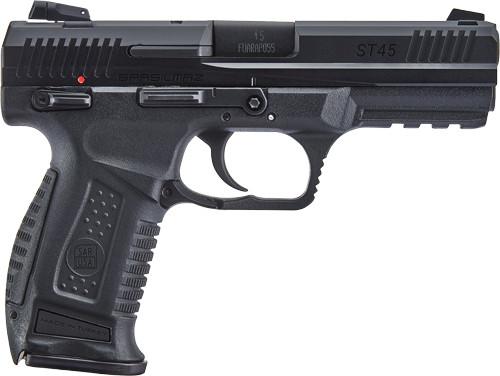 SAR USA ST45 45ACP, Threaded Barrel, Black, 12rd