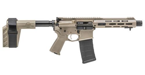 """Springfield SAINT Victor AR-15 Pistol 223/5.56 7.5"""" SS Barrel, 1:7 Twist, Flat Dark Earth, M-LOK 30Rd PMAG"""