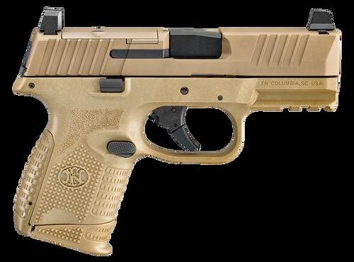 "FN 509 Compact MRD 9mm, 3.7"" Barrel, FN Optics Mounting System, Flat Dark Earth, 2x 10rd"
