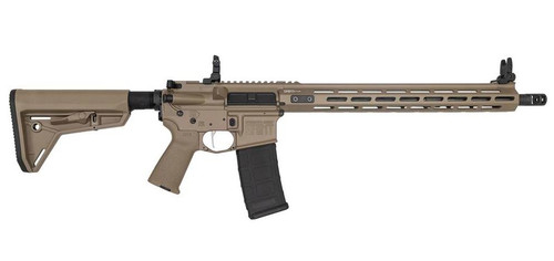 "Springfield SAINT Victor AR-15, 223/5.56, 16"" Barrel, Flat Dark Earth, 15"" M-LOK Handguard, Flip Up Sights, 30Rd Mag"