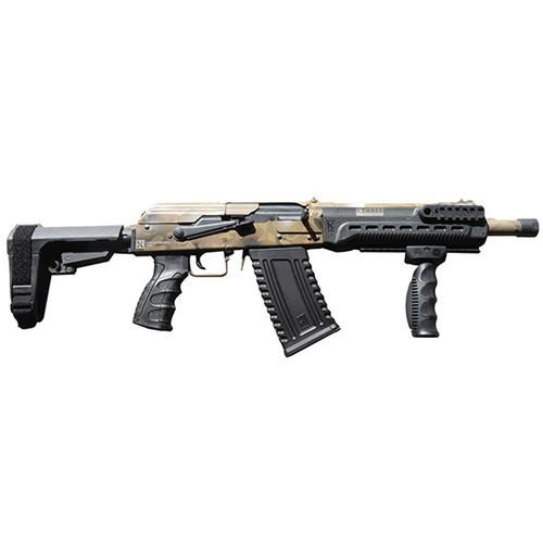 """Kalashnikov USA Komrad Camo 12 Ga, 12.50"""" Barrel, 3"""" Chamber, SB Tactical SBA3 Pistol Brace, 5rd"""