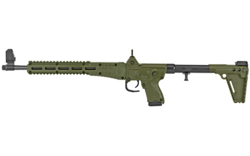 "Kel-Tec Sub-2000 9mm, 16.25"" Barrel, OD Green, Ghost Ring Rear, Adj. Stock, 15rd"