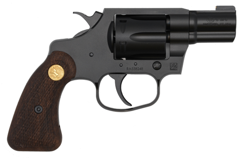 "Colt Cobra Special Revolver, 38 Special, 2"" Barrel, Steel Frame, Black PVD Finish, 6Rd, Brass Bead Front Sight, Retro Wood Grips"