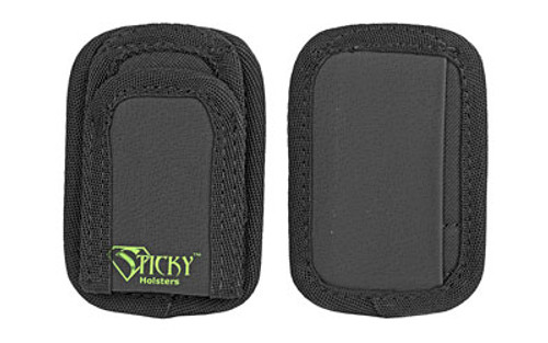 Sticky Holsters Mini Mag Pouch, Ambidextrous, Fits Most Single Stack Magazines up to 40 S&W, Black, 2 Pack