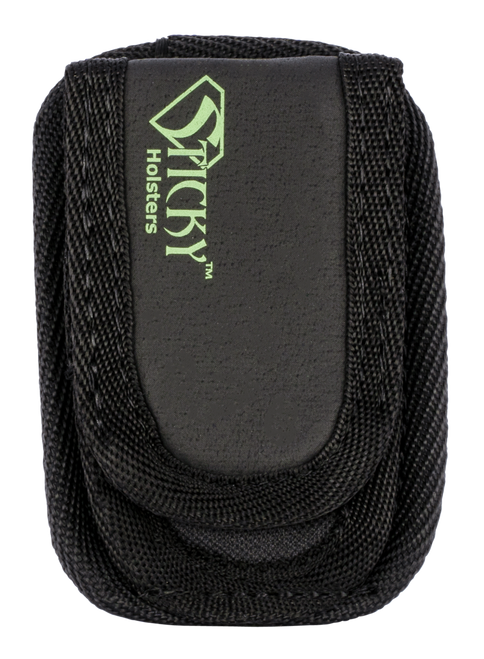 Sticky Holsters Mini Mag Pouch, Ambidextrous, Fits Most Single Stack Magazines up to 40 S&W, Black