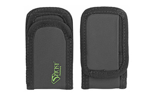 Sticky Holsters Super Mag Pouch, Fits Flashlights, Any Pistol Magazine, Built in Pocket for License, Black, 2 Pack
