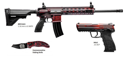 HK 70th Anniversary Kit 1 of 70 MR556A1 & HK45, Red Battle Worn Cerakote, Explorer Case