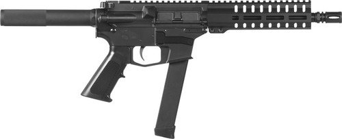 "CMMG Banshee 100 9mm, 8"" 1:10 Threaded Barrel, Alum, Black, A2 Hider Grip, M-LOK, 33rd Glock Mag"