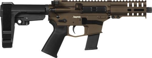 "CMMG Banshee MKG 45 ACP, 5"" Barrel, Midnight Bronze, RipBrace, Thread Protector, RML4 Handguard, Magpul Grip, 13rd"