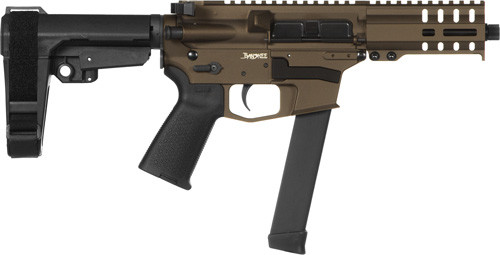 "CMMG Banshee MKGS 9mm, 5"" Threaded Barrel, Midnight Bronze, RipBrace, RML4 Hand Guard, Magpul Grip, 33rd"