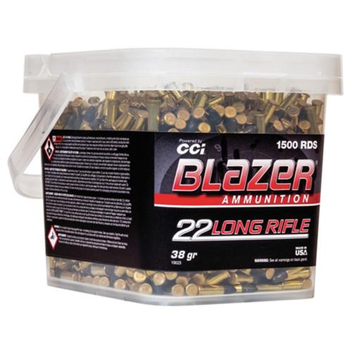CCI Blazer Ammunition Blazer, 22 LR, 38Gr, Lead Round Nose, 1500rd Bucket