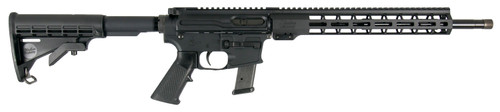 "Windham Weaponry 9mm Carbine, 16"" Barrel, 6-Pos Stock, Black, 17rd"