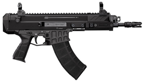"""CZ Bren 2 MS Semi Auto Pistol 7.62x39mm, 14.17"""" Barrel, Folding Sights, Black, 30rd"""