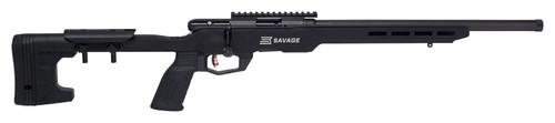"Savage B22 Magnum Precision, 22 WMR, 18"" Threaded Barrel, Black Color, Black MDT Chassis, 10Rd, Detachable Box Magazine, AccuTrigger"