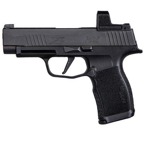 "Sig P365 XL Compact 9mm, 3.7"" Barrel, Polymer, Black, Romeo Zero Reflex Optic, 2x12rd"
