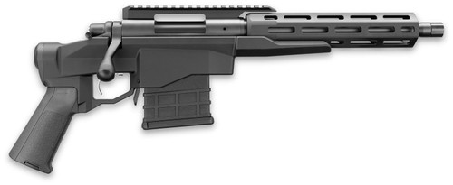 "Remington 700-CP, Bolt, 308 Winchester, 12.5"" Barrel, Alloy, Black, 10Rd, Threaded, M-Lok, Thumb Safety, Pistol Brace Included"