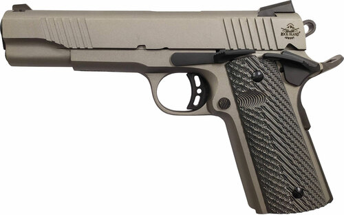 "Rock Island EFS 1911, Full Size, 45ACP, 5"" Barrel, Alloy Frame, Grey Cerakote Finish, G10 Grips, Ambidextrous Safety, Fixed Sights, 8Rd, 1 Magazine"