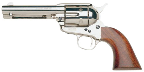 "Taylors and Company 1873 Cattleman .357 Mag, 4.75"" Barrel, Nickel, Walnut, 6rd"