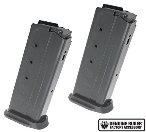 Ruger Magazine Pack of 2, 5.7X28MM, 20Rd, Black, Fits Ruger-57, 2 Pack