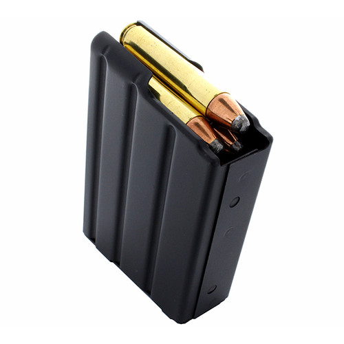 DURAMAG Magazine, 350 Legend, 5Rd, Black, Stainless Steel, Fits AR Rifles, Orange AGF Follower