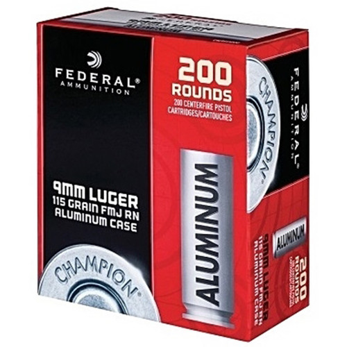 Blazer Ammunition Blazer, 9mm, 115Gr, Full Metal Jacket, Aluminum Case, 50, 1000