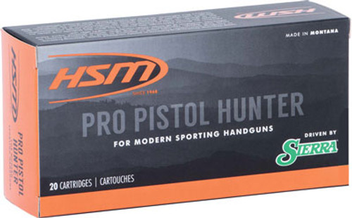 HSM Pro Pistol 44 Rem Mag 240gr, Jacketed Hollow Cavity, 20rd Box
