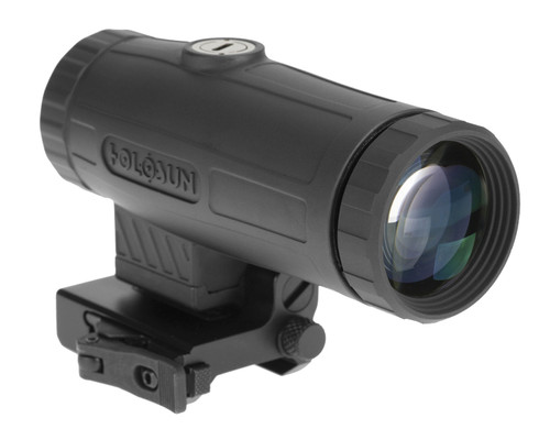Holosun Technologies HM3X, 3X Magnifier, Titanium, Black, Quick Release Side Flip Mount, Absolute or Lower 1/3 Co-witness