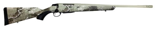 """Tikka T3x Lite, Bolt Action Rifle, 300 Win Mag, 24.38"""" Fluted Barrel, 1:11 Twist, Threaded 5/8x24, Veil Alpine Camo, Synthetic Stock, Cerakote Barrel and Action, Green Color, Right Hand, 3Rd, 1 Mag, Includes Matching Muzzle Brake"""