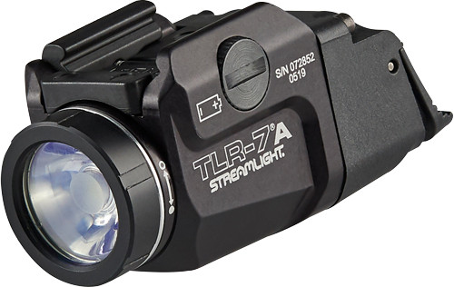 Streamlight TLR-7A Flex, Black, 500 Lumens, 1.5 Hour Runtime, Red Laser, Comes with High and Low Switch and (1) CR123A Lithium Battery