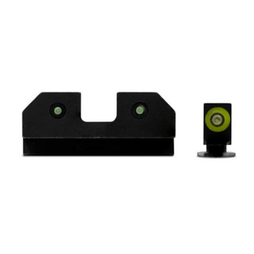 XS Sights RAM Night Sights, Green Front Dot, Glock 17,19,22,23,24,26,27,31,32,33,34,35,36,38, Steel/Blued