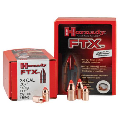 Hornady FTX Reloading Bullets 7mm .284 120gr, 100 per Box