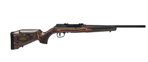 "Savage A22 BNS-SR .22 LR, 18"" Carbon Sporter Barrel, Timber Hardwood Laminate, 10rd"