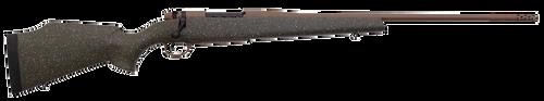 "Weatherby Mark V Weathermark LT 6.5 Weatherby RPM, 26"" Barrel, Steel Barrel, Green Black And, Flat Dark Earth, Fiberglass Stock, 3rd"