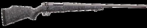 "Weatherby Mark V Weathermark 6.5 Weatherby RPM, 24"" Barrel, Tac Gray Cerakote, Black Gray Webbing, Monte Carlo Stock, 4rd"