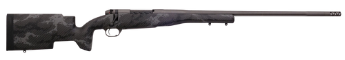 "Weatherby Mark V Accumark Pro, Bolt Action, 6.5 Weatherby RPM, 26"" Barrel, Black With Gray Sponge Finish, Carbon Fiber Stock, 4Rd"