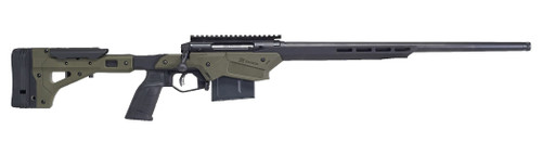 "Savage Axis II Precision Rifle 6.5 Creedmoor, 22"" Heavy Barrel, Black and Olive Drab Green Finish, Polymer/ Aluminum Stock, 10Rd Mag"