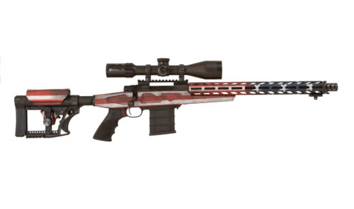 "Howa APC Flag Chassis Rifle 6.5 Creedmoor Scope Combo, 16"" Threaded Barrel, 4-16x50mm Nikko Stirling Scope, Flag Finish, 10rd"