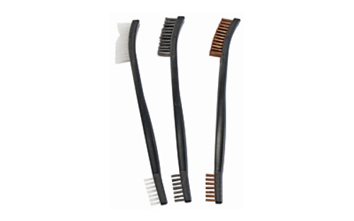 Birchwood Casey Cleaning Brushes Nylon/Brass/Steel, 3 Pack