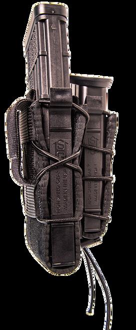 High Speed TACO Double Decker Belt Mount Adaptable Cordura/Polymer Black