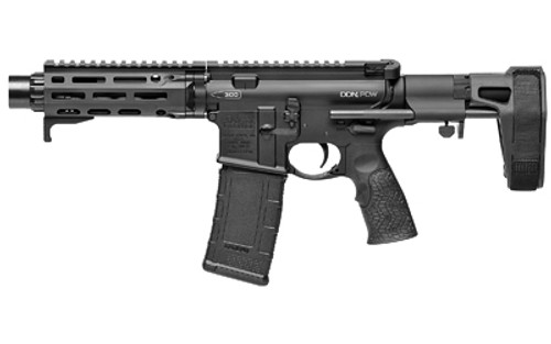 "Daniel Defense DDM4 PDW AR-15 Pistol 300 Blackout, 7"" Barrel, Black, Maxim CQB Pistol Brace, Linear Compensator, 30rd"