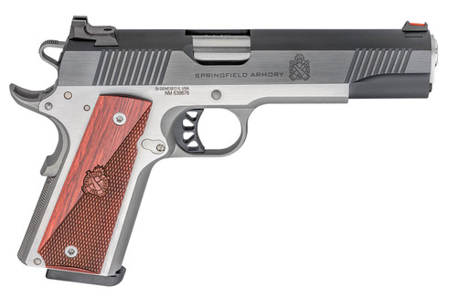 "Springfield Ronin Operator 1911, Full Size, 9mm, 5"" Barrel, Blued, SS Frame, Fiber Optic Front Sight Tactical White Dot Rear, 9rd Mag"