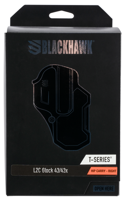 Blackhawk T-Series Glock 43-43X, Level 2 Compact, Right Hand, Black