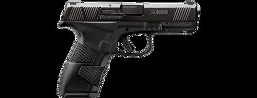 "Mossberg MC-2 Compact 9mm, 4"" Barrel, Black, 3 Dot Sights, Flat Profile Trigger, 2 Mags, 13rd-15rd"