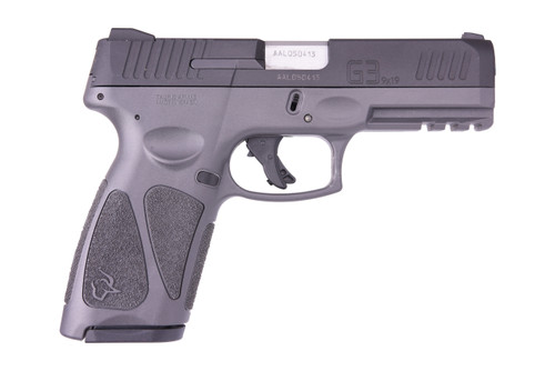 "Taurus G3 Full Size, 9mm, 4"" Barrel, Polymer Frame, Black/Gray, 2 Magazines, 1-15Rd & 1-17Rd"