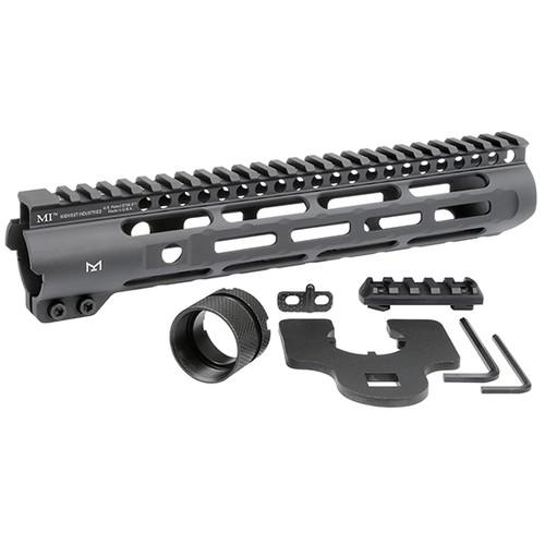 "Midwest Slim Line Handguard, 10.5"" Length, M-Lok. Aluminum, Black Anodized Finish, Fits AR Rifles, ludes 5-Slot Polymer Rail"