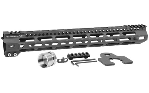"Midwest Ultra Lightweight M-Lok Handguard, Fits AR Rifles, 15"" Free Float Handguard, Wrench And Titanium Hardwareluded, 5-Slot Polymer M-Lok Railluded, Black"