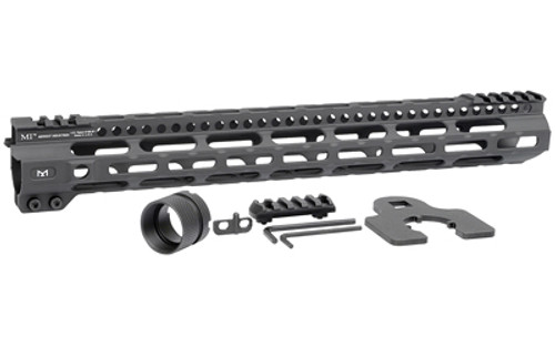 "Midwest Combat Rail Light Weight M-Lok Handguard, Fits AR Rifles, 15"" Free Float Handguard, Wrench And Mounting Hardwareluded, 5-Slot Polymer M-Lok Railluded, Black"